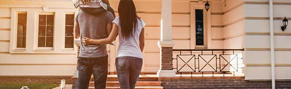 Couple looking at property